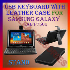 "ACM-USB KEYBOARD 10"" CASE for SAMSUNG GALAXY TAB P7500 TAB LEATHER COVER STAND"