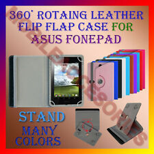 "ACM-ROTATING 360° LEATHER FLIP STAND COVER 7"" CASE for ASUS FONEPAD 7 TABLET NEW"