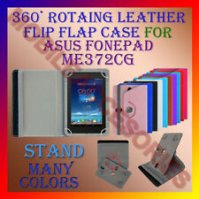 "ACM-ROTATING 360° LEATHER FLIP STAND COVER 7"" CASE for ASUS FONEPAD ME372CG TAB"