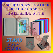 """ACM-ROTATING 360° LEATHER FLIP STAND COVER 7"""" CASE for IBALL SLIDE 6318I TABLET"""