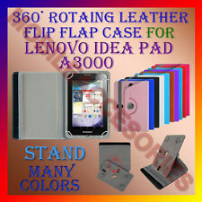 """ACM-ROTATING 360° LEATHER FLIP STAND COVER 7"""" CASE for LENOVO IDEA PAD A3000 TAB"""