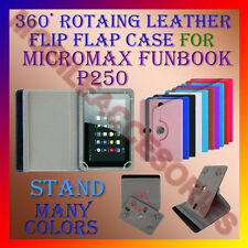 """ACM-ROTATING 360° LEATHER FLIP STAND COVER 7"""" CASE for MICROMAX FUNBOOK P250 TAB"""