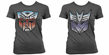 LADIES Official Licensed HASBRO TRANSFORMERS AUTOBOT or DECEPTICON T-Shirt