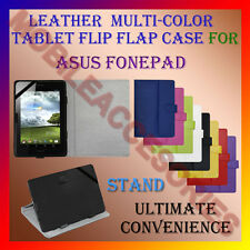 "ACM-LEATHER FLIP FLAP MULTI-COLOR 7"" COVER & STAND for ASUS FONEPAD TAB HOLDER"