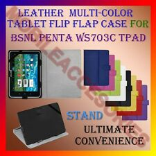 "ACM-LEATHER FLIP FLAP MULTI-COLOR 7"" COVER & STAND for BSNL PENTA WS703C TPAD"