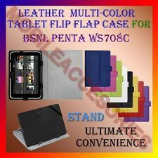 "ACM-LEATHER FLIP FLAP MULTI-COLOR 7"" COVER & STAND for BSNL PENTA WS708C TABLET"