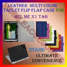 "ACM-LEATHER FLIP FLAP MULTI-COLOR 7"" COVER & STAND for HCL ME X1 TABLET HOLDER"