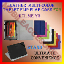 """ACM-LEATHER FLIP FLAP MULTI-COLOR 7"""" COVER & STAND for HCL ME Y3 TABLET HOLDER"""