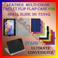 "ACM-LEATHER FLIP FLAP MULTI-COLOR 7"" COVER & STAND for IBALL SLIDE 3G 7334Q TAB"