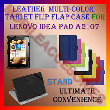 "ACM-LEATHER FLIP FLAP MULTI-COLOR 7"" COVER & STAND for LENOVO IDEA PAD A2107 TAB"