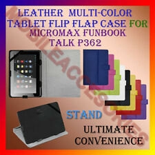 "ACM-LEATHER FLIP FLAP MULTI-COLOR 7"" COVER & STAND of MICROMAX FUNBOOK TALK P362"