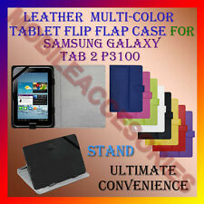 "ACM-LEATHER FLIP FLAP MULTI-COLOR 7"" COVER & STAND for SAMSUNG TAB 2 P3100 TAB"