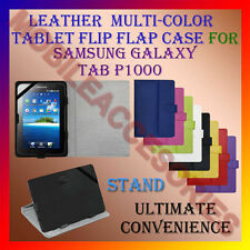 "ACM-LEATHER FLIP FLAP MULTI-COLOR 7"" COVER & STAND for SAMSUNG TAB P1000 TABLET"