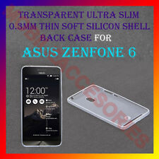 ACM-ULTRA SLIM 0.3MM FULL TRANSPARENT SILICON for ASUS ZENFONE 6 BACK COVER CASE