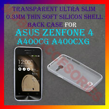 ACM-ULTRA SLIM TRANSPARENT SILICON of ASUS ZENFONE 4 A400CG A400CXG BACK COVER