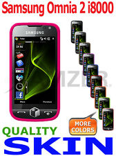 Amzer Quality Soft Silicone Skin Jelly Case Back Cover For Samsung Omnia 2 i8000