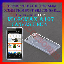 ACM-ULTRA SLIM 0.3MM TRANSPARENT SILICON MICROMAX A107 CANVAS FIRE 4 BACK COVER