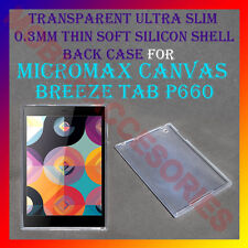 ACM-ULTRA SLIM TRANSPARENT SILICON MICROMAX CANVAS BREEZE TAB P660 BACK COVER