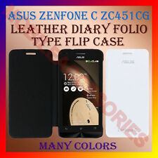 ACM-LEATHER DIARY FOLIO FLIP FLAP CASE for ASUS ZENFONE C ZC451CG MOBILE COVER