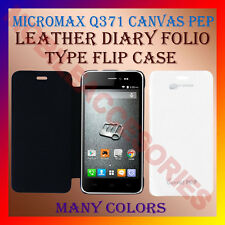 ACM-LEATHER DIARY FOLIO FLIP FLAP CASE for MICROMAX Q371 CANVAS PEP MOBILE COVER