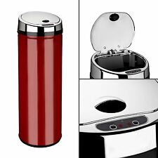 Dihl 30L 42L 50L Origin Round Red Kitchen Waste Automatic Sensor Bin