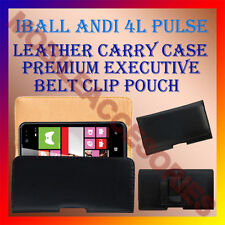 ACM-BELT CASE for IBALL ANDI 4L PULSE MOBILE LEATHER POUCH PREMIUM COVER CLIP