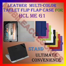 """ACM-LEATHER FLIP FLAP MULTI-COLOR 10"""" COVER STAND for HCL ME G1 TABLET CASE NEW"""