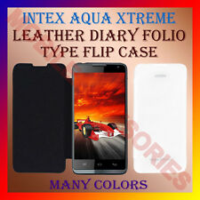 ACM-LEATHER DIARY FOLIO FLIP CASE for INTEX AQUA XTREME MOBILE FRONT BACK COVER
