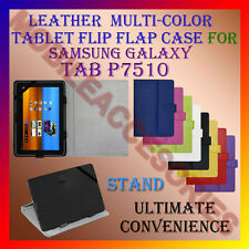"ACM-LEATHER FLIP FLAP MULTI-COLOR 10"" COVER & STAND for SAMSUNG TAB P7510 TAB"