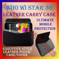 ACM-HORIZONTAL LEATHER CARRY CASE for WIIO WI STAR 3G MOBILE POUCH COVER PREMUIM