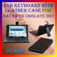 "ACM-USB KEYBOARD 7"" CASE for DATAWIND UBISLATE 3G7 TABLET LEATHER COVER STAND"