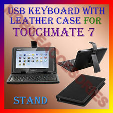 "ACM-USB KEYBOARD 7"" CASE for TOUCHMATE 7  TABLET LEATHER COVER STAND HOLDER FLAP"