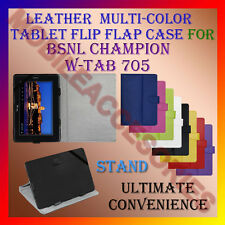 "ACM-LEATHER FLIP MULTI-COLOR 7"" COVER CASE STAND for BSNL CHAMPION W-TAB 705 TAB"