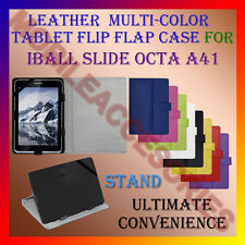 """ACM-LEATHER FLIP MULTI-COLOR 7"""" COVER CASE STAND for IBALL SLIDE OCTA A41 TABLET"""