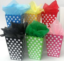 6 x Sweet Candy Popcorn Treat Boxes complete with tissue paper