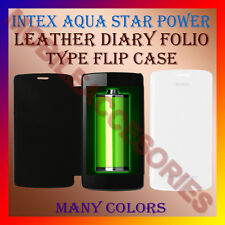 ACM-LEATHER DIARY FOLIO FLIP CASE for INTEX AQUA STAR POWER MOBILE FRONT/ BACK