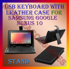 "ACM-USB KEYBOARD 10"" CASE for SAMSUNG GOOGLE NEXUS 10 LEATHER COVER STAND TABLET"