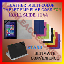 """ACM-LEATHER FLIP MULTI-COLOR 10"""" COVER CASE STAND for IBALL SLIDE 1044 TABLET"""