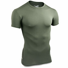 Under Armour Tactical Heatgear Compression SS Base Layer T Shirt Top Green NEW