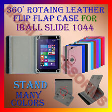 """ACM-ROTATING 360° LEATHER FLIP STAND COVER 10"""" CASE for IBALL SLIDE 1044 TABLET"""