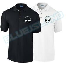 ALIEN POLO T SHIRT UFO HIPSTER HATE LOVE SWAG BLOGGER TUMBLR FASHION UNISEX