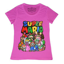 Ladies Cute Super Mario Brothers Nintendo T Shirt N64 Retro Vest Top Bowser Bros
