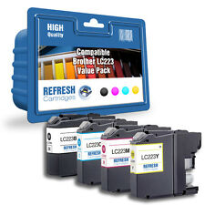 COMPATIBLE LC223BK/C/M/Y 4 INK CARTRIDGE MULTI PACK FOR BROTHER PRINTERS