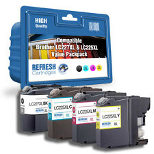 COMPATIBLE LC227XL LC225XL 4 INK CARTRIDGE MULTI PACK FOR BROTHER PRINTERS