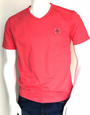 Stone Island Logo Patch V-Neck T-Shirt in Pink RRP £60