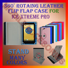 "ACM-ROTATING 360° LEATHER FLIP STAND COVER 7"" CASE for ICE XTREME PRO TABLET TAB"