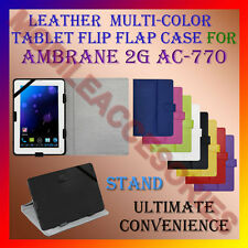 "ACM-LEATHER FLIP MULTI-COLOR 7"" COVER CASE STAND for AMBRANE 2G AC-770 TABLET"