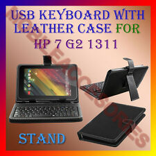 """ACM-USB KEYBOARD 7"""" CASE for HP 7 G2 1311 TABLET LEATHER COVER STAND HOLDER NEW"""