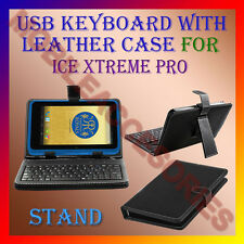 "ACM-USB KEYBOARD 7"" CASE for ICE XTREME PRO TABLET LEATHER COVER STAND HOLDER"