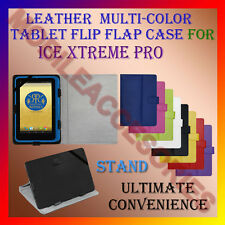 "ACM-LEATHER FLIP MULTI-COLOR 7"" COVER CASE STAND for ICE XTREME PRO TABLET FLAP"